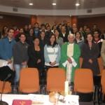 Los funcionarios del CREA, BIOTECMAR e Instituto Tecnológico, repletaron el auditorio del Campus, para conmemorar el mes de María.
